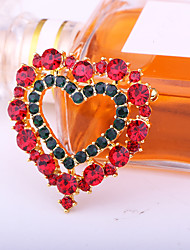 cheap -Women's Brooches Geometrical Heart Star Artistic Fashion European Sweet Brooch Jewelry Golden Red Green For Christmas Daily Festival
