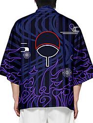 cheap -Inspired by Naruto Uchiha Sasuke Anime Cosplay Costumes Japanese Kimono Kimono Coat For Men's