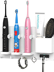 cheap -Punch Free Bathroom Storage Electric Toothbrush Holder Traceless Wall-Mount Keep Dry Toothbrush Stand Rack Razor Holder Bath Accessories