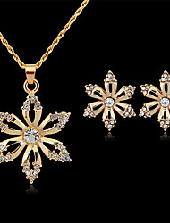 cheap -Women's Bridal Jewelry Sets Geometrical Flower Fashion Gold Plated Earrings Jewelry Gold For Christmas Party Wedding Gift Festival 1 set