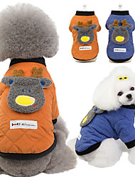 cheap -pet clothes teddy dog clothes autumn and winter new style pet clothes two-legged cotton jacket 19 fawn cotton jacket