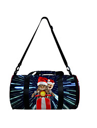 cheap -Unisex Bags Polyester Duffle Bag Zipper Daily Outdoor 3D Print Blue Black Dark Blue