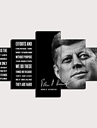 cheap -5 Panels Wall Art Canvas Prints Painting Artwork Picture John F Kennedy Painting Home Decoration Decor Rolled Canvas No Frame Unframed Unstretched