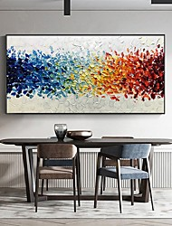 cheap -Oil Painting Handmade Hand Painted Wall Art Palette Knife Painting Red Blue Fantasy Home Decoration Decor Stretched Frame Ready to Hang