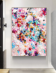 cheap -Oil Painting Handmade Hand Painted Wall Art Abstract Floral Color Gypsophila Home Decoration Decor Stretched Frame Ready to Hang