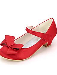 cheap -Girls' Heels Flower Girl Shoes Satin Big Kids(7years +) Little Kids(4-7ys) Wedding Butterfly Magic Tape Blue Purple Red Spring Summer
