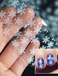 cheap -1 Pcs Nail Art 4*120Pcs High quality Christmas Snowflake Manicure Sticker Nail DIY Applique Silver White Snowflake Star Rhinestone
