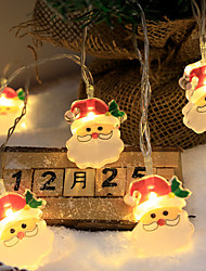 cheap -Christmas LED Fairy String Lights Santa Claus Battery Garland Light 3M-20LEDs 1.5M-10 LEDs Christmas Party Garden Holiday Decoration Lamp