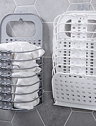 cheap -Collapsible Laundry Basket Hanging On The Wall In Bathroom Clothes Storage