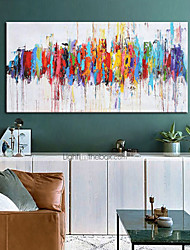 cheap -Oil Painting Handmade Hand Painted Wall Art Colorful Abstract Modern Home Decoration Décor Rolled Canvas No Frame Unstretched