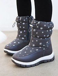 cheap -Boys' Girls' Boots Snow Boots Children's Day PU Non Slip Cute Snow Boots Little Kids(4-7ys) Daily Walking Walking Shoes Polka Dot Pink Gray Black Winter / Mid-Calf Boots / Rubber
