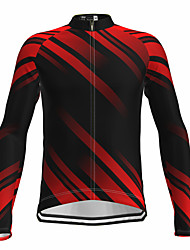 cheap -21Grams Men's Long Sleeve Cycling Jersey Spandex Red Bike Top Mountain Bike MTB Road Bike Cycling Quick Dry Moisture Wicking Sports Clothing Apparel / Athleisure