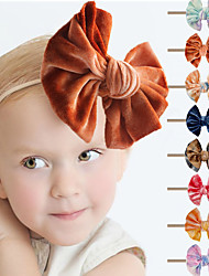 cheap -14 pcs/set Sells Tie-dye Golden Velvet Bow Baby Hairband Cute Soft And Comfortable Hair Accessories For Babies And Toddlers