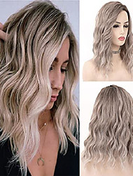 cheap -ombre brown short curly wigs for women, ash blonde bob curly wig 10 inch mixed synthetic hair glueless blonde short wig -143