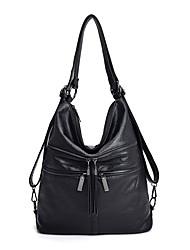 cheap -Women's Bags PU Leather Tote Crossbody Bag Top Handle Bag Zipper Plain Solid Color Vintage Daily Outdoor Retro Leather Bag Handbags Blue Purple Green Black