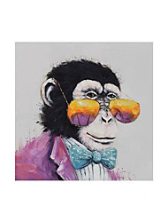 cheap -Oil Painting Handmade Hand Painted Wall Art Square Modern Gorilla With Glasses Animal Picture Home Decoration Decor Rolled Canvas No Frame Unstretched