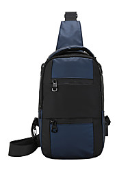 cheap -Men's Bags Oxford Cloth Nylon Sling Shoulder Bag Zipper Solid Color Daily Outdoor Tote Blue Gray Gold Black