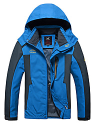 cheap -Men's Outdoor Jacket Daily Outdoor Fall Spring Regular Coat Zipper Stand Collar Regular Fit Waterproof Windproof Breathable Sports Jacket Long Sleeve Color Block Pocket Dark Grey Blue Red
