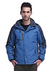 cheap -Men's Hiking 3-in-1 Jackets Ski Jacket Hiking Fleece Jacket Winter Outdoor Solid Color Thermal Warm Waterproof Windproof Multi-Pockets Hoodie Windbreaker Trench Coat Single Slider Hunting Fishing