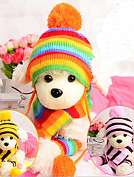 cheap -Dog Cat Dog clothes Solid Colored Casual / Daily Dog Clothes Puppy Clothes Dog Outfits Washable colourful Yellow Pink Costume for Girl and Boy Dog Knitted S M L