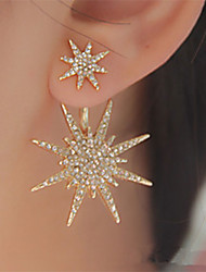 cheap -Women's Crystal Stud Earring Jacket Earring Star Galaxy Star of David Ladies Elegant Fashion Blinging everyday Iced Out Cubic Zirconia Earrings Jewelry Gold / Silver For Wedding Party Birthday 1pc