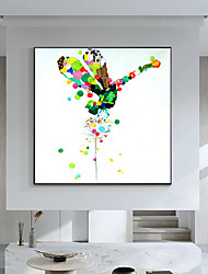 cheap -Oil Painting Handmade Hand Painted Wall Art Mintura Modern Abstract Animal Dragonfly Picture For Home Decoration Decor Rolled Canvas No Frame Unstretched