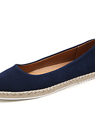 cheap -Women's Flats Flat Heel Pointed Toe Round Toe Daily Office Suede Solid Colored Red Blue Black