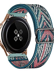 cheap -compatible for samsung galaxy watch 3 45mm/galaxy watch 46mm/gear s3 frontier/classic replacement sport strap elastic adjustable nylon loop for amazfit gtr 47mm/stratos 22mm band