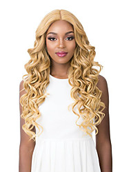 cheap -Synthetic Wig Curly Deep Wave Middle Part Wig Long Pink Blonde Synthetic Hair Women's Cosplay Soft Party Pink Blonde