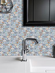 cheap -American Tile Sticker Macaron Green Orange Mosaic Self-adhesive Kitchen Wall Sticker Imitation 3d Tile Sticker