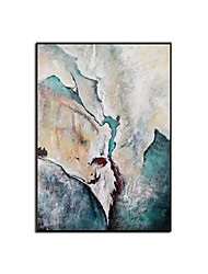 cheap -Oil Painting Handmade Hand Painted Wall Art Modern Cyan Blue Texture Abstract Picture Home Decoration Decor Rolled Canvas No Frame Unstretched