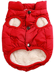 cheap -2 Layers Fleece Lined Warm Dog Jacket for Puppy Winter Cold Weather Soft Windproof Small Dog Coat