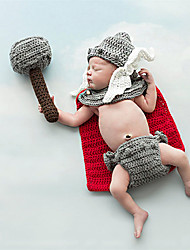 cheap -Baby The New Modelling Handmade Hat Hundred Days Baby Photo Suit Handmade Woolen Knitting Photography Clothing
