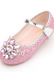 cheap -Girls' Flats Glitters Princess Shoes PU Big Kids(7years +) Little Kids(4-7ys) Blue Blushing Pink Fall