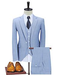 cheap -Medium Blue Vintage Jacquard Custom Suit