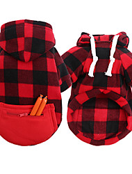 cheap -Dog Cat Dog clothes Fashion For Indoor and Outdoor Use Winter Dog Clothes Puppy Clothes Dog Outfits Warm 1 2 3 Costume for Girl and Boy Dog Cotton Blend S M L XL 2XL 3XL