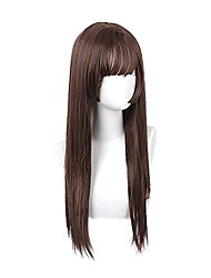 cheap -synthetic wigs lolita cosplay straight wig with bang for women cosplay costume and daily wear