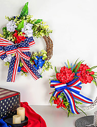 cheap -40cm American National Day Wreath Independence Day Bow Rattan Circle Door Pendant Window Scene Decoration
