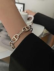 cheap -Women's Bracelet Geometrical U Shape Simple S925 Sterling Silver Bracelet Jewelry Silver For Wedding