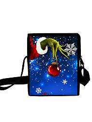 cheap -Unisex Bags Oxford Cloth Crossbody Bag Zipper Daily Outdoor 3D Print Blue Green Black