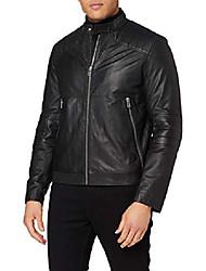 cheap -men's loscar leather jacket, black (1), x-large