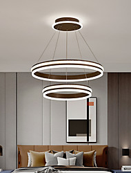 cheap -60 cm Pendant Lantern Design Pendant Light Aluminum Brushed LED 220-240V