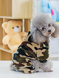 cheap -dog clothes camouflage fleece autumn and winter new manufacturers agent clothing pet dog clothes small and medium-sized dogs