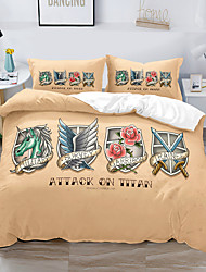 cheap -Wing Printed 3-Piece Duvet Cover Set Hotel Bedding Sets Comforter Cover with Soft Lightweight Thicken Fabric, Include 1 Duvet Cover, 2 Pillowcases for Double/Queen/King(1 Pillowcase for Twin/Single)