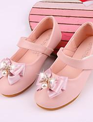 cheap -Girls' Flats Flower Girl Shoes Microfiber Dress Shoes Little Kids(4-7ys) Theme Party Festival Pink Silver Ivory Fall Spring