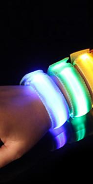 ราคาถูก -LED Running Armband วงสะท้อนแสง Safety High Visibility ไนลอน สำหรับ แคมป์ปิ้ง/การปีนเขา/เที่ยวถ้ำ ปั่นจักรยาน วิ่ง - ส้ม ชมพู เขียว