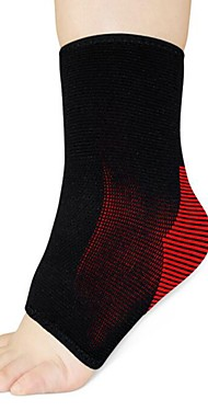 ราคาถูก -Ankle Support Ankle Sleeve สำหรับ โยคะ วิ่ง แดมปิ้ง ความเจ็บปวด eases Polyester / Polyamide 1 ชิ้น กีฬา & กิจกรรมกลางแจ้ง สีดำ / สีแดง