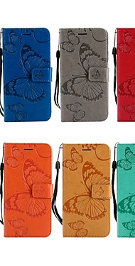 cheap -Case For LG LG X Power / LG V30 / LG V20 Wallet / Card Holder / with Stand Full Body Cases Butterfly Hard PU Leather
