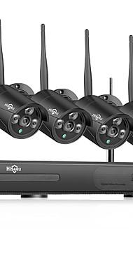 povoljno -hiseeu bežični nvr 8ch cctv sustav 1080p unutarnji sustav kućne sigurnosne kamere s 4pcs 960p wifi kamerama ip66 vodootporan, mobitel i pc daljinski sustav noćnog vida survilliance sustav 1tb 3tb hard
