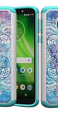 cheap -Case For Motorola MOTO G6 / Moto G6 Play / Moto E5 Play Shockproof / Rhinestone / Pattern Back Cover Mandala / Rhinestone Hard PC